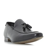 Howick Rooker Tassel Detail Loafer Shoes Black