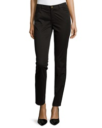 Lafayette 148 New York Slim Fit Twill Pants Black