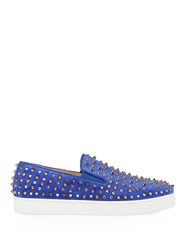 Christian Louboutin Roller 1C1s Embellished Suede Trainers