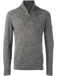 Paolo Pecora Crossed V Neck Jumper Brown