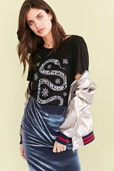 Truly Madly Deeply Snake And Stars Tee Black