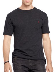 Polo Big And Tall Solid Short Sleeve Tee Black