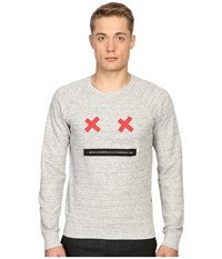 Marc Jacobs Slim Fit French Terry Sweater Grey Melange Men's Sweater Gray
