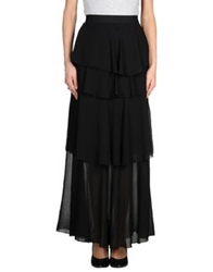 Space Style Concept Long Skirts Black