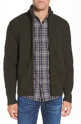 Vintage Men's 1946 Block Knit Zip Cardigan Grey Olive
