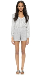 Liv Claude Romper Stripe Heather