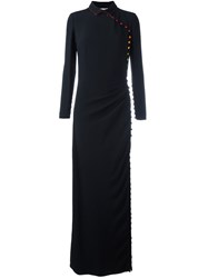 Marco De Vincenzo Buttoned Fitted Dress Black