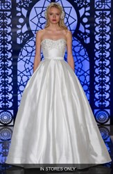 Women's Reem Acra 'Solange' Beaded Strapless Ballgown Silk Dress In Stores Only