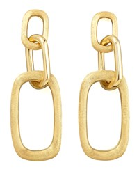 Murano 18K Brushed Gold Link Drop Earrings Marco Bicego