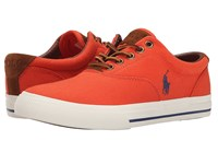 Polo Ralph Lauren Vaughn Deco Orange Canvas Sport Suede Men's Lace Up Casual Shoes Pink