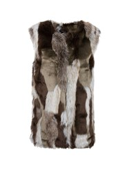 Morgan Faux Fur Jacket Multi Coloured Multi Coloured
