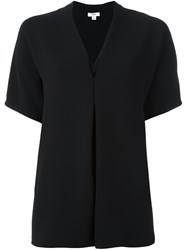 Vince V Neck Blouse Black
