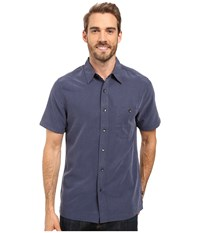 Royal Robbins Mojave Desert Pucker S S Navy Men's Short Sleeve Button Up