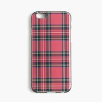 J.Crew Shiny Printed Case For Iphone 6 6S Red Black Multi