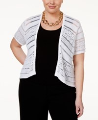 Styleandco. Style And Co. Plus Size Knit Shrug Only At Macy's Bright White