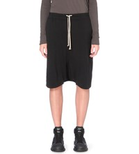 Drkshdw Dropped Crotch Cotton Jersey Shorts Black