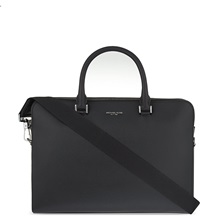 Michael Kors Double Zip Saffiano Briefcase Black