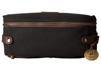 Will Leather Goods Desmond Travel Kit Canvas Leather Black Brown Travel Pouch