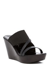 Italian Shoemakers Robin Platform Wedge Sandal Black