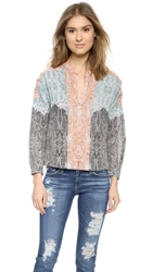 Twelfth St. By Cynthia Vincent Cropped Blouse Paisley