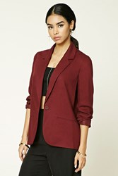 Forever 21 Single Buttoned Blazer Wine
