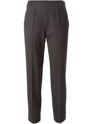 Piazza Sempione Cropped Trousers Grey