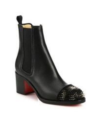Christian Louboutin Otaboot Spiked Leather Chelsea Booties Black