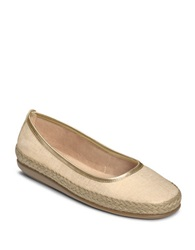Aerosoles Soloist Canvas Loafers Gold