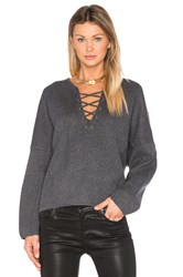 Vince Lace Front Sweater Grey