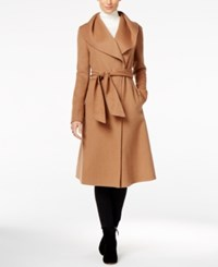 Jones New York Double Face Wool Blend Wrap Coat Vicuna