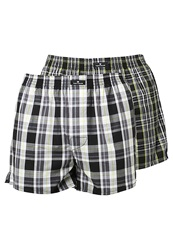Tom Tailor 2 Pack Boxer Shorts Black Black