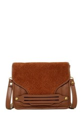 Ella Moss Bridget Woven Leather Crossbody Brown