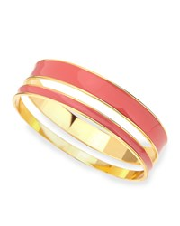 Tuleste Two Piece Channel Bangle Set Pink Golden