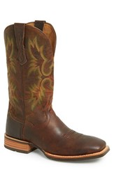 Men's Ariat 'Tombstone Ats' Leather Cowboy Boot Weathered Chestnut