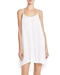 Boho Me Embroidered Strap Back Mini Dress Swim Cover Up White