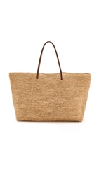 Bop Basics Luxe Tote With Leather Handles Natural