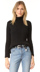 525 America Variegated Rib Sweater Black