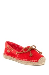 Sperry Katama Espadrille Boat Shoe Red