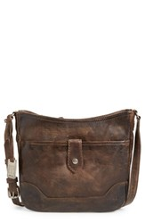 Frye 'Melissa Button' Crossbody Bag Grey Slate