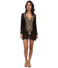 Ella Moss Cabana Tunic Cover Up Black Women's Swimwear