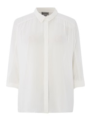 Mary Portas Olivia Short Sleeve Soft Shirt Ivory