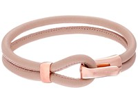 Michael Kors Leather Hook Eye Bracelet Rose Gold Buff Bracelet Pink