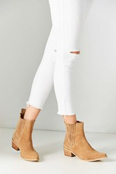 Urban Outfitters June Pointy Toe Chelsea Boot Tan