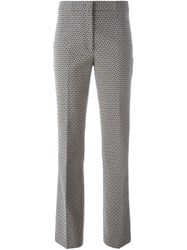 Etro Abstract Print Flared Trousers Black