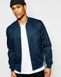 Asos Bomber Jacket In Teal Green