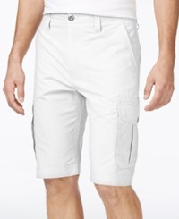 Ocean Current Men's Peached Cargo Shorts White