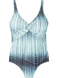 Lygia And Nanny Open Back Printed Swimsuit Blue