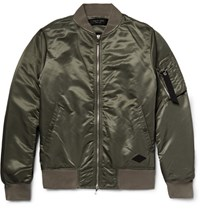 Rag And Bone Manston Satin Bomber Jacket Army Green