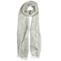 Dents Ladies Butterfly Design Woven Scarf Silver