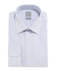 Ike Behar Mini Graph Check Dress Shirt Lilac